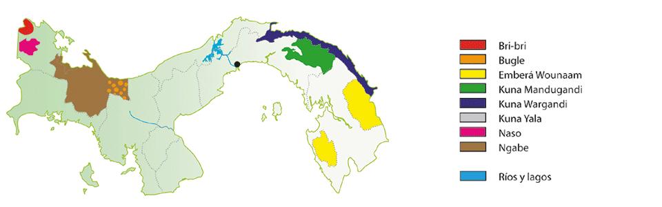Ubicación Geográfica de los Grupos Indígenas de Panamá
